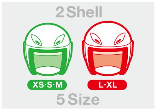 ヘルメットサイズ