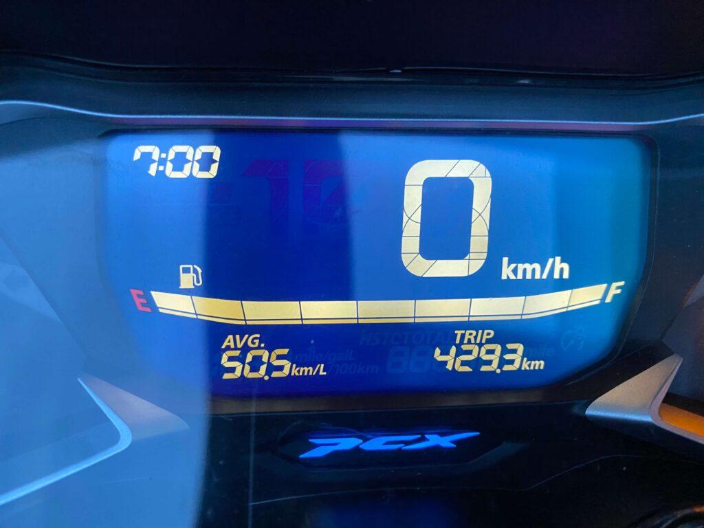 平均燃費と走行距離